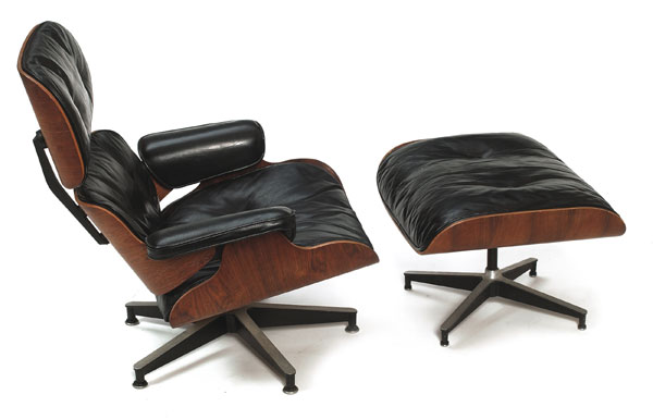 Fauteuil Ottoman, Charles et Ray Eames, 1956, Herman Miller