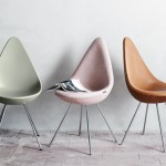 Réeditions des chaises Drop de Arne Jacobsen
