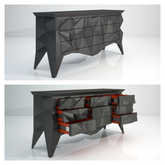 commode design origami