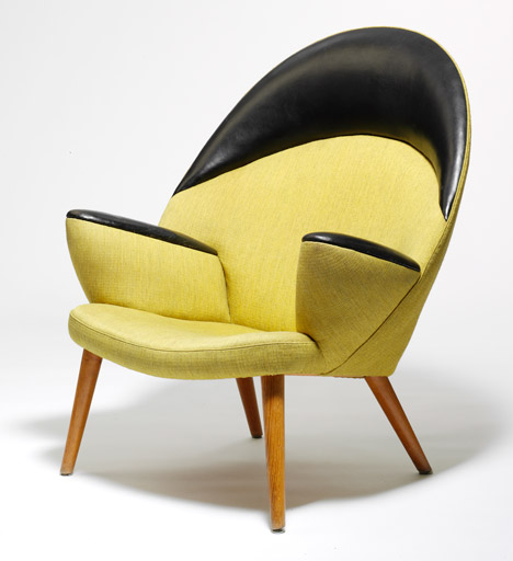 Upholstered Peacock Chair (PP550), 1947